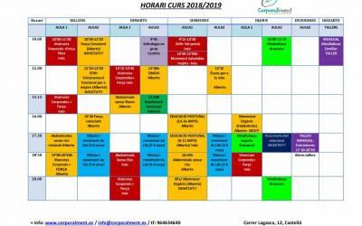 Nuevas actividades en Corporalment (Curso 2018/19)