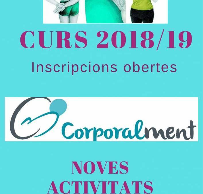 Incripcions i activitats curs 2018/19