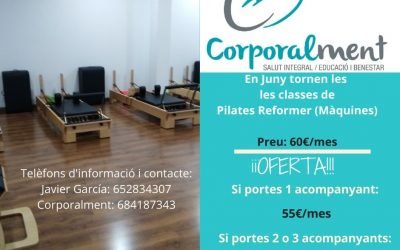 CLASSES DE PILATES REFORMER (MÀQUINES)