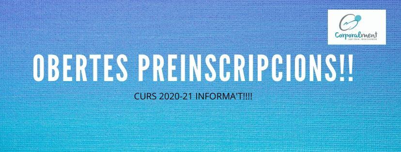 PREINSCRIPCIONS CURS 2020-21